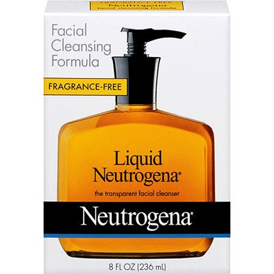 Neutrogena - Neutrogena Fragrance Free Liquid Neutrogena, Facial Cleansing Formula, 8-Ounce Pump Bottles (Pack of 4)