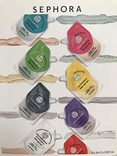 Sephora - Clay Mask Sample Trio: Grey, Pink, Green