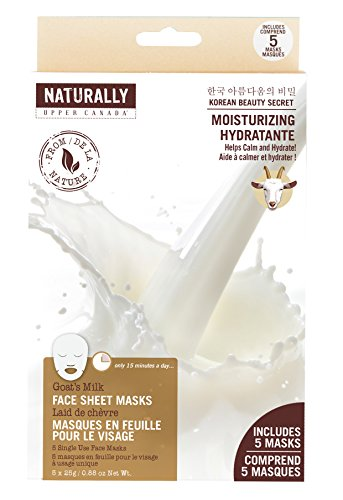 Naturally of Upper Canada - Moisturizing Face Sheet Masks, Goat's Milk