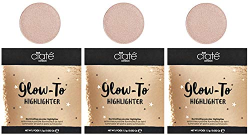 Ciate - Ciate London Glow-To Highlighter Travel Size, Set of 3 (Moondust)