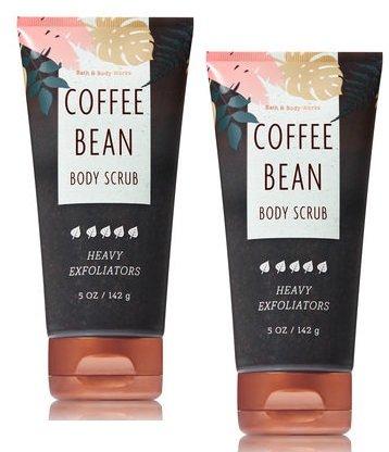 Co-t - Bath and Body Works 2 Pack Coffee Bean Body Scrub Heavy Exfoliators 5 Oz.