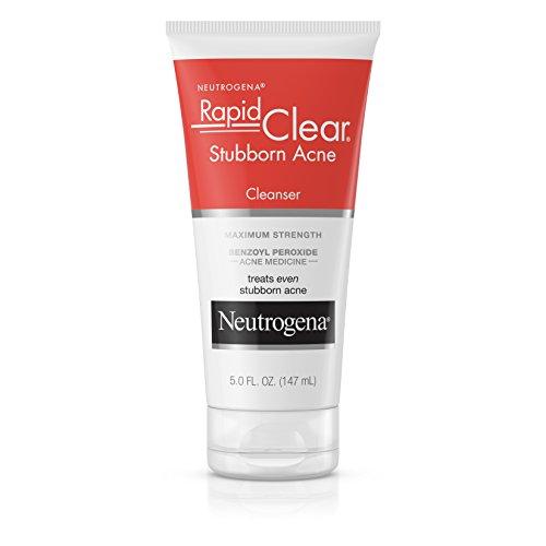 Neutrogena Neutrogena Rapid Clear Stubborn Acne Facial Cleanser with Benzoyl Peroxide Acne Medicine, 5 fl. oz