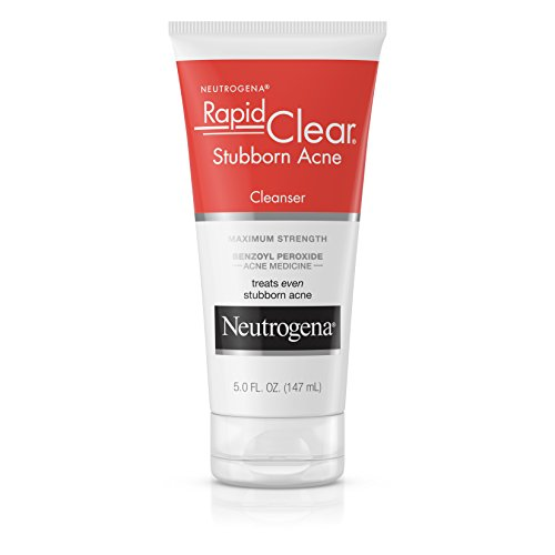 Neutrogena - Neutrogena Rapid Clear Stubborn Acne Facial Cleanser with Benzoyl Peroxide Acne Medicine, 5 fl. oz