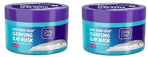Clean & Clear .. - Acne Triple Clear Clay Face Mask, Salicylic Acid, 3.5 oz (Pack of 2)