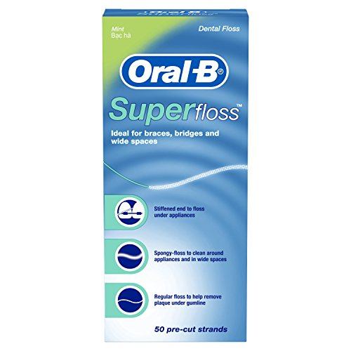 Oral-B - Oral-B Super Floss Pre-Cut Strands Dental Floss, Mint, 50 Count