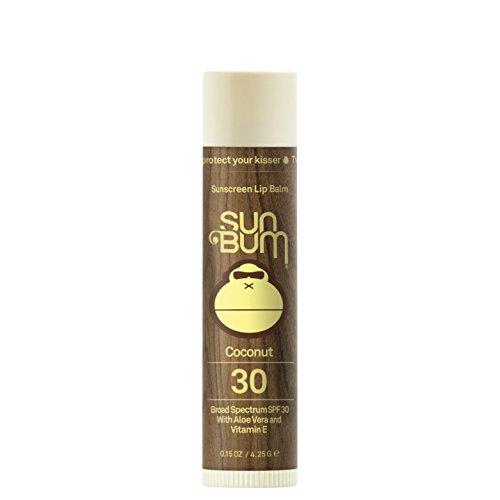 Sun Bum - Sun Bum Coconut Sunscreen Lip Balm, SPF 30, 0.15 oz  Stick, 1 Count, Broad Spectrum UVA/UVB Protection, Hypoallergenic, Paraben Free, Gluten Free, Vegan