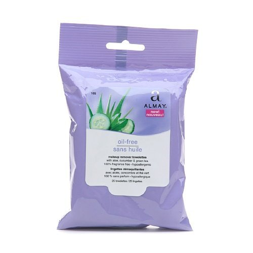 Almay - Makeup Remover Cleansing Towelettes, Oil-Free 25 ea (Pack of 2)