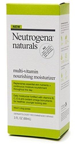 Neutrogena Neutrogena Naturals Multi-Vitamin Nourishing Daily Face Moisturizer with Antioxidant Bionutrients & Vitamins B, C & E, Non-Comedogenic & Sulfate-, Paraben-, Phthalate- & Dye-Free, 3 fl. oz