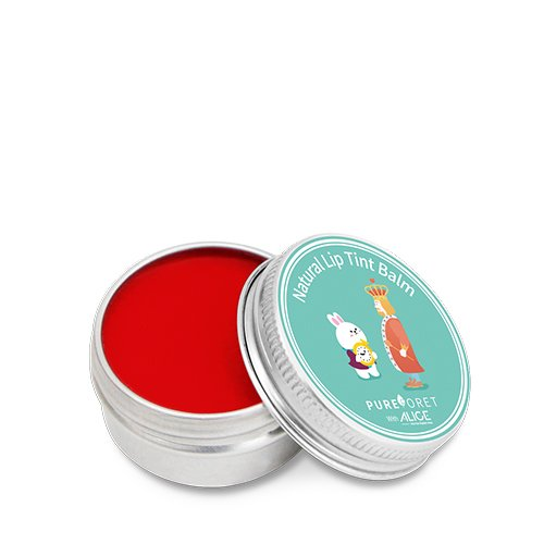 PUREFORET - PUREFORET Natural Color Tint Lip Balm Vivid Red-A with Alice moisturizer Jojoba Olive Oil Shea Butter Vitamin E Travel Anti oxidant and UV Protection Care Effect Chapstick 0.53 Ounce 15g