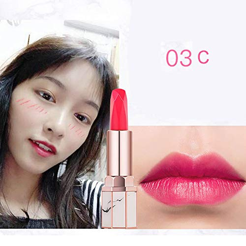 Shusuen_beauty - Shusuen ♔ Marble Grain Soft Lipstick Moisturizing Velvet Balm Cosmetics Waterproof Women Matte Lip Gloss Makeup