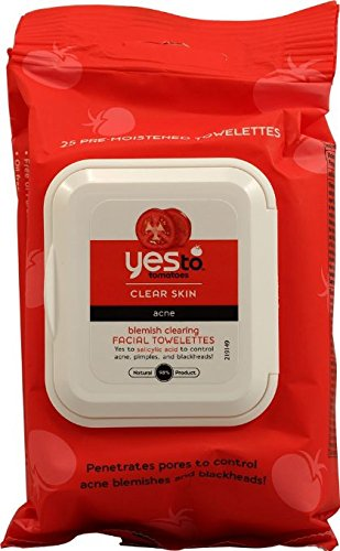 Yes to Tomatoes - Yes to Tomatoes Blemish Clearing Facial Towelettes, Clear Skin Acne 25 ea (Pack of 12)