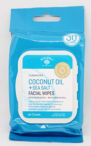 Bolero Bolero Coconut Oil + Sea Salt Facial Wipes