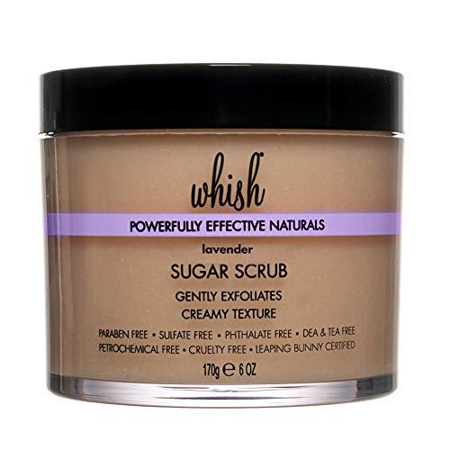 Whish - Whish Lavender Sugar Scrub - Exfoliating Scrub, Skin Moisturizer, Shea Butter with Aloe Body Scrub, Natural and Organic Skin Care, 6 oz