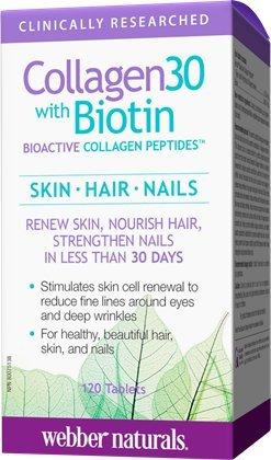 Webber Naturals - Webber Naturals Collagen30 with Biotin Bioactive Collagen Peptides, 120 Tablets