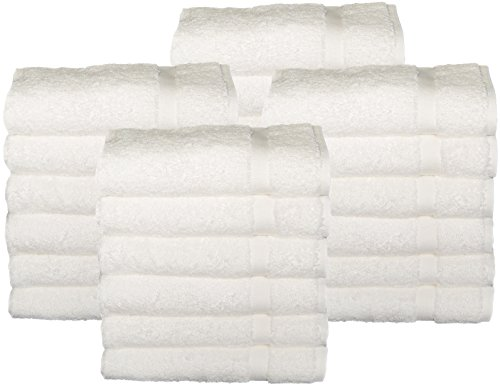 HomeLabels - HomeLabels Cotton Salon Towels - Gym Towel - Hand Towel - (24-Pack, White) - 16 inches x 26 inches - Ringspun-Cotton - Maximum Softness and Absorbency, Easy Care