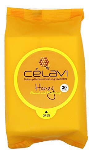 Celavi Cosmetics - Celavi Makeup Remover Cleansing Wipes Removing Towelettes 2 Packs - 60 Sheets (Honey) by Celavi Cosmetics