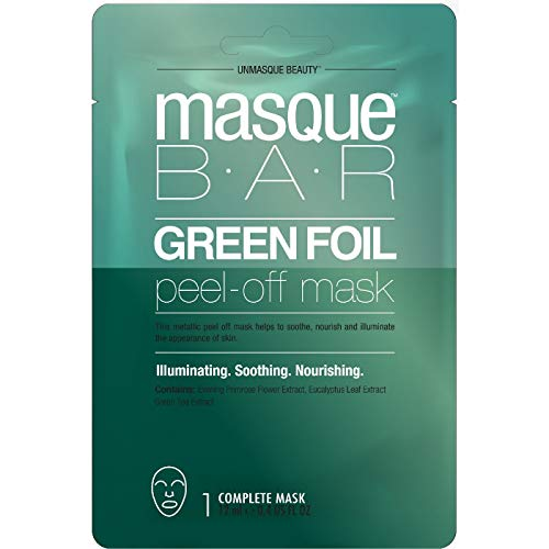 masque BAR - Masque Bar Green Foil Peel Off Mask Facial Treatments 0.71 fl oz, pack of 1