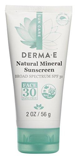 DERMA-E - Natural Mineral Sunscreen SPF 30 Oil-Free Face