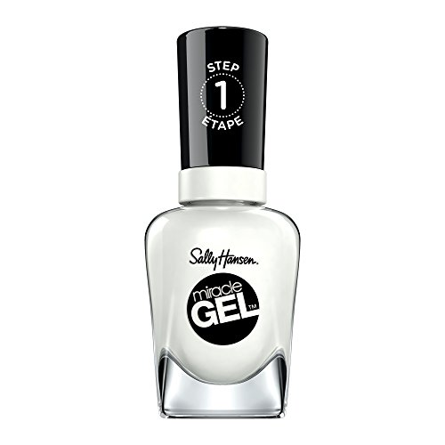 Sally Hansen - Sally Hansen - Miracle Gel Nail Color White to Black Gel Nail Polish for Home or Professional Manicure and Pedicure