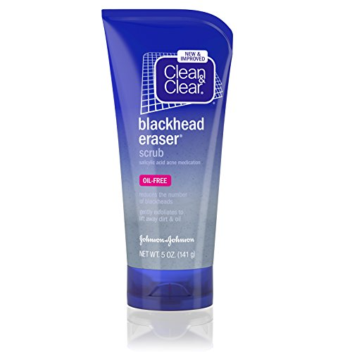 Clean & Clear - Clean & Clear Blackhead Eraser Facial Scrub with 2% Salicylic Acid Acne Medication, Oil-Free Daily Facial Scrub for Acne-Prone Skin Care, 5 oz (Pack of 2)