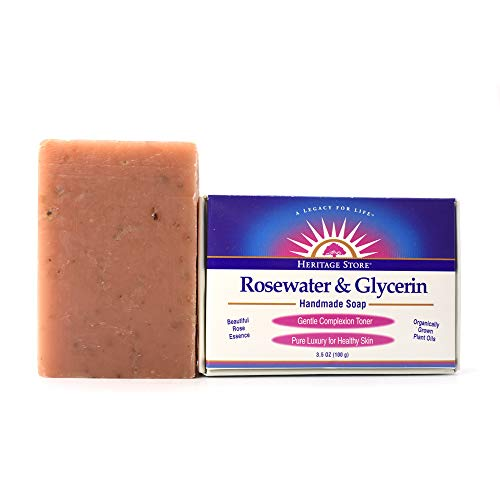 Heritage Store - Rosewater & Glycerin Soap, 3.5 oz by Heritage Products
