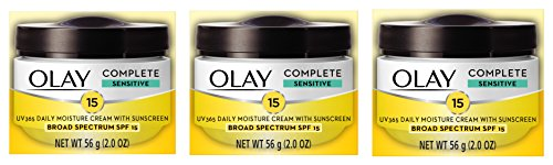 Olay - Olay Complete All Day Moisture Face Cream with Sunscreen SPF 15, Sensitive Skin, 2.0 fl. oz. (Pack of 3)