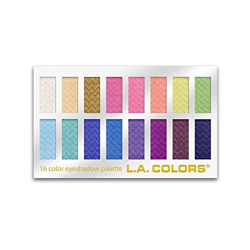L.A. Colors - L.A. Colors 16 Color Eyeshadow Palette, Haute, 1.02 Ounce