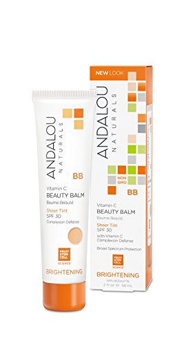 Andalou Naturals - Andalou Naturals Vitamin C BB Beauty Balm, Sheer Tint, SPF 30, 2 oz, Protects, Brightens with Vitamin C, Evens Skin Tone