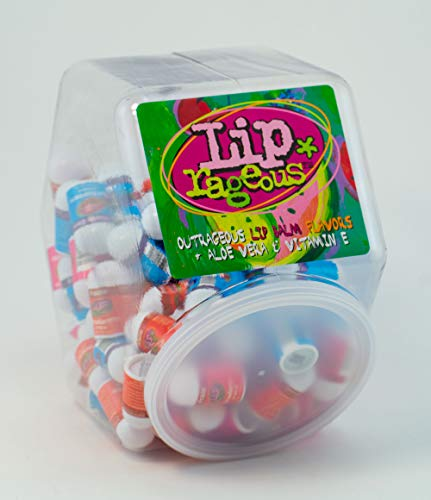 Giggletime Toy Co. - Lip Rageous Lip Balm Assortment - (1) Unit of 100 Pieces - Assorted Flavors - for Kids, Boys and Girls, Party Favors, Piñata Stuffers, Children's Gift Bags, Carnival Prizes, Dental Bags