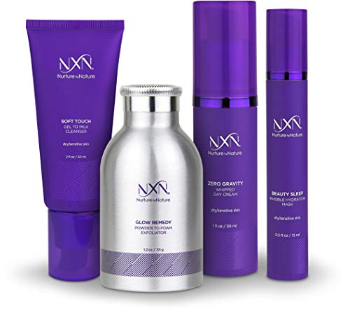 Nurture by Nature - NxN Total Moisture Anti-Aging Kit 4-Piece Skin Care System for Dry/Sensitive Skin…