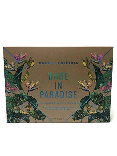 Morphe - Bretman Babe, Paradise Highlighter Palette + Fan Brush