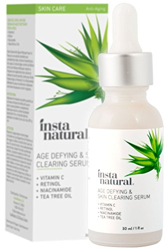 InstaNatural - InstaNatural Vitamin C Skin Clearing Serum - Anti Aging Formula with Retinol & Salicylic Acid - Natural & Organic Wrinkle, Acne, Dark Spot, Fine Line & Hyperpigmentation Defying Facial Product - 1 OZ