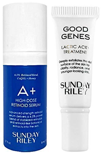Sunday RiIey - Sunday RiIey Good Genes Lactic Acid Treatment & A+ High Dose Retinoid Serum Deluxe Travel Size, 2 Piece Set
