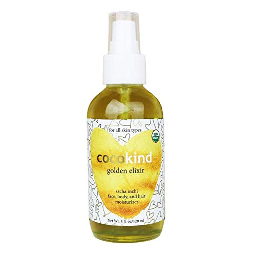 Cocokind - Cocokind Golden Elixir with Sacha Inchi, Good for Face, Body and Hair, Organic, 4oz