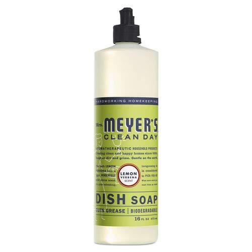 SC Johnson - Mrs. Meyer's Clean Day Dish Soap, Lemon Verbena, 16 Ounce Bottle