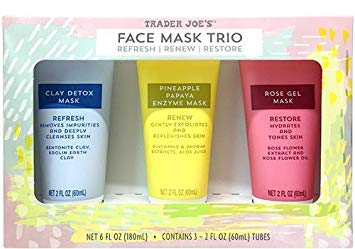 Trader Joe's - Face Mask Trio Refresh Renew Restore Clay Detox Mask