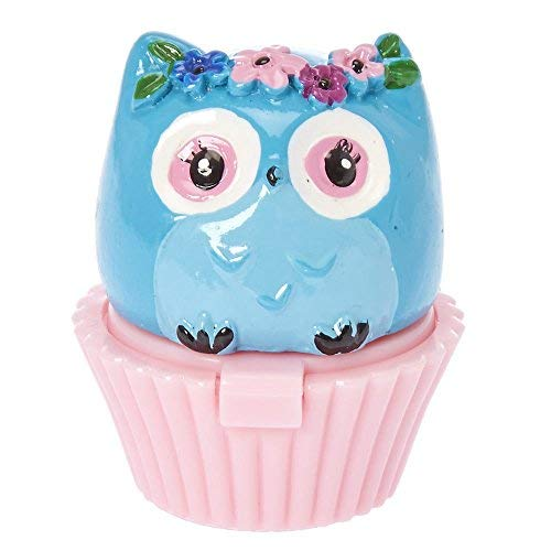 Claire's - Claire's Club Girl's Blue Owl Cupcake Lip Gloss Pot Blueberry Flavor