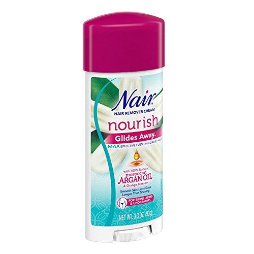 Nair - Nair Hair Remover Glides Away Nourish With Argan Oil 3.3 Ounce (97ml) (2 Pack)