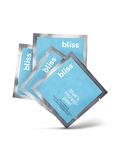 bliss - Bliss - That's Incredi-peel Glycolic Resurfacing Pads |Single-Step Pads for Exfoliating & Brightening| Vegan | Fragrance Free | Cruelty Free | Paraben Free | 5 ct.