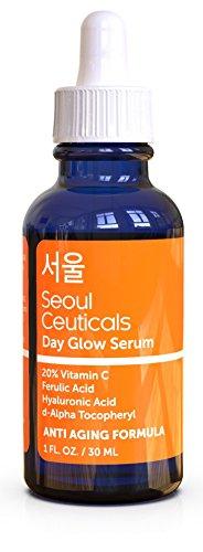 Seoul Ceuticals Seoul Ceuticals Korean Skin Care - 20% Vitamin C Hyaluronic Acid Serum + CE Ferulic Acid Provides Potent Anti Aging, Anti Wrinkle Korean Beauty 1oz