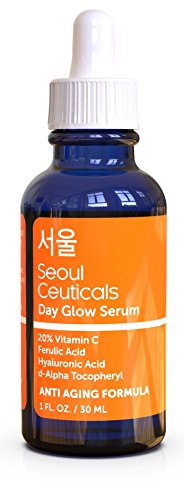 Seoul Ceuticals - Seoul Ceuticals Korean Skin Care - 20% Vitamin C Hyaluronic Acid Serum + CE Ferulic Acid Provides Potent Anti Aging, Anti Wrinkle Korean Beauty 1oz