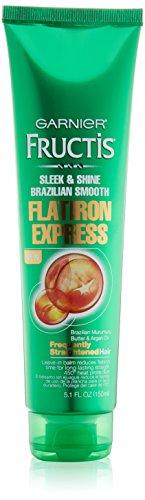 Garnier - Garnier Hair Care Fructis Brazilian Smooth Flatirion Express, Difficult to Straighten Hair, 5.1 Fluid Ounce