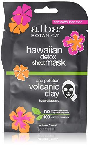 Alba Botanica - Hawaiian Detox Sheet Mask, Anti-Pollution Volcanic Clay