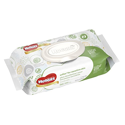 Huggies - HUGGIES Natural Care Baby Wipes Disposable Soft Packs, 56 ct