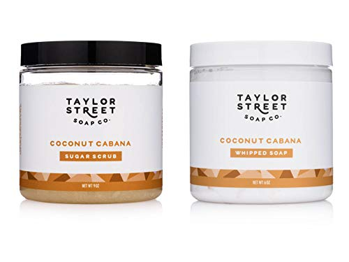 Taylor Street Soap Co. - Taylor Street Soap Co. Whipped Soap & Emulsified Sugar Scrubs 2 Set Gift Bundle (Coconut Cabana)