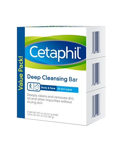 Cetaphil Cetaphil Deep Cleansing Face & Body Bar for All Skin Types (Pack of 3)