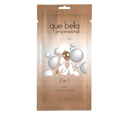Que Bella PRO - Que Bella 2-in-1 Coffee Scrub & Mud Mask 0.5oz, pack of 1