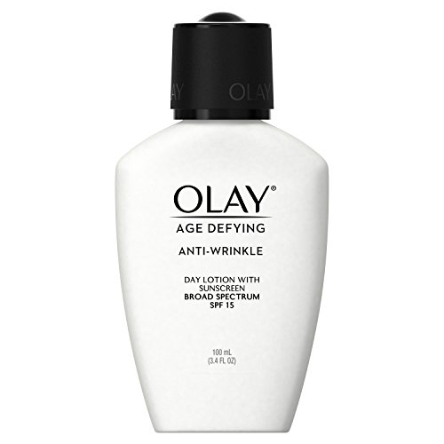 Olay - Olay Age Defying, Anti-Wrinkle Day Lotion with Sunscreen Broad Spectrum , SPF 15, 3.4 Ounce (Pack of 2)  Packaging may Vary