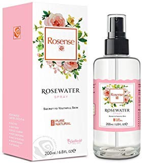 Rosense - Rosense Glass Bottle Rosewater Hydrating Facial Toner/Rose Water Face Mist 6.8 Oz