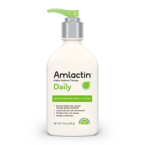 AmLactin - AmLactin Daily Moisturizing Body Lotion | Instantly Hydrates, Relieves Roughness | Powerful Alpha-Hydroxy Therapy Gently Exfoliates | Smooths Rough, Dry Skin | Paraben-Free 7.9 oz.